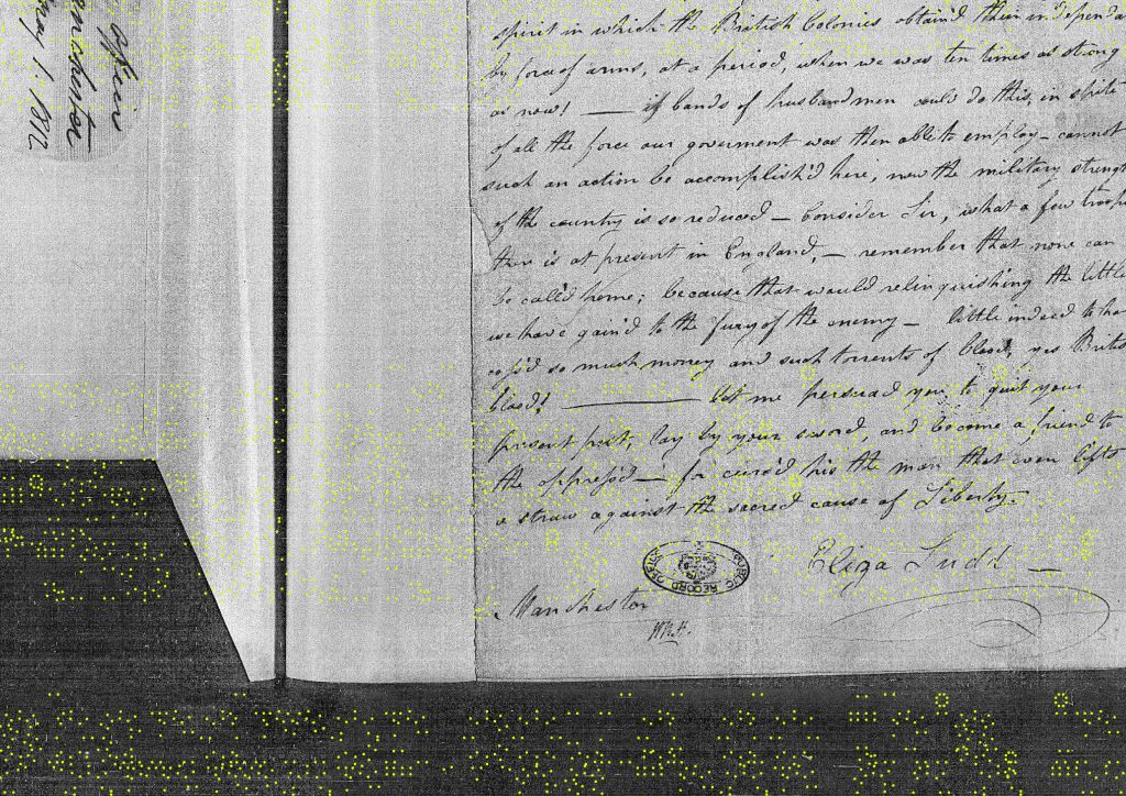 Eliza Ludd's originele brief 'A', gedateerd 30 april 1812. Bron: UK National Archives